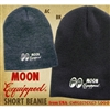 MOON Equipped Embroidered Short Beanie
