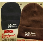 MOON Equipped Embroidered Long Beanie Hat