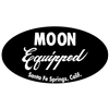 MOON Equipped Oval Sticker - Black
