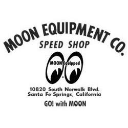Moon Equip Speed Shop Die Cut Decal Black