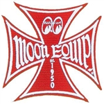 Maltese Iron Cross Moon Equip Patch - Red