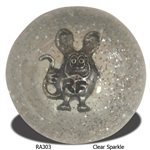 Rat Fink Shift Knob - Clear Sparkle