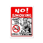 Rat Fink NO! SMOKING Message Board Sign