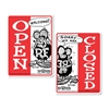 Rat Fink OPEN CLOSED Message Board Sign - Vertical