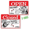 Rat Fink OPEN CLOSED Message Board Sign - Horizontal