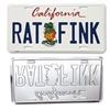 "California License Plate (white base) ""RAT FINK"""