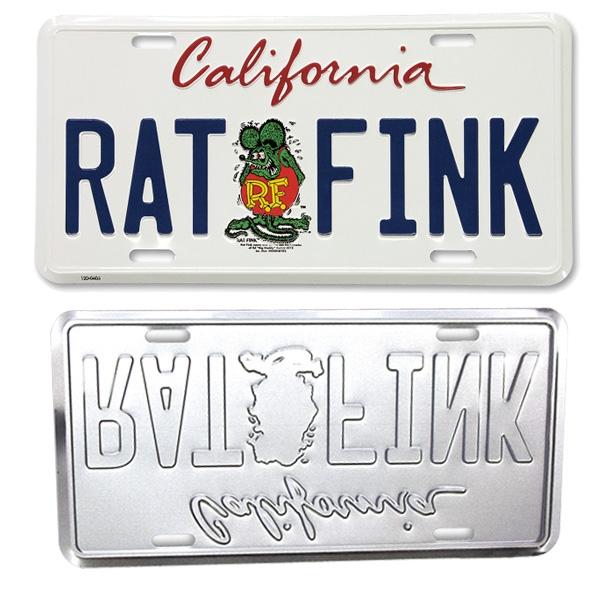 rat fink ed roth license plate topper