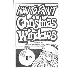 How To Paint Christmas Windows Book