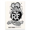 Rat Fink Standing B&W Decal - Large