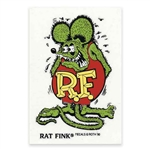 Rat Fink Standing Green Color Decal - Large