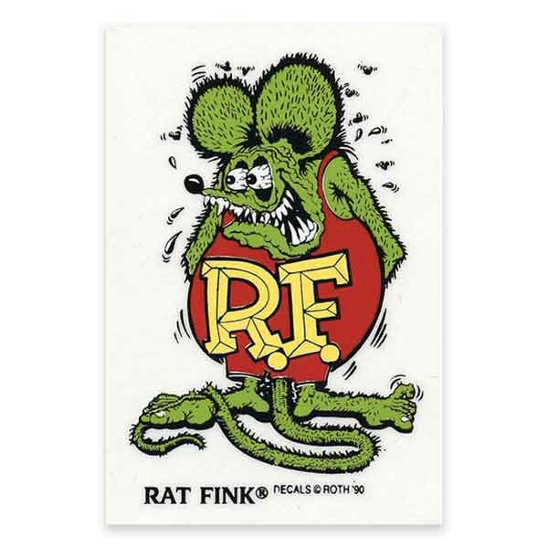 Rat Fink Standing Green Color Decal Large