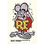 Rat Fink Standing Purple Decal - Large