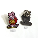 Rat Fink Hat Pin Pink