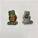 Rat Fink Hat Pin Green