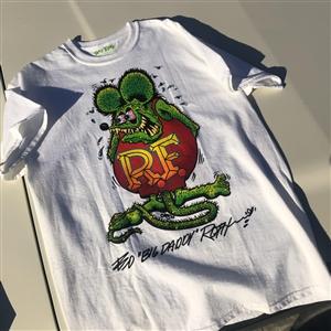 DaigMeng Rat Fink Womens T-Shirt Summer Print Short Sleeve Top