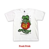 Rat Fink Color Standing Design Kids Tee in White