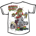 Rat Fink MOTHER'S WORRY - Kids T-shirt - White
