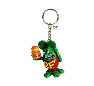 Rat Fink Tower Burger Ring Keychain