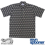 Reyn Spooner x Moon Equipped Pullover/Button Down Shirt (Black version)