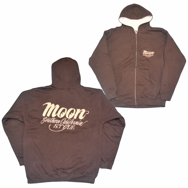 a726ab07497 California Style Hooded Zip-up Jacket - Brown