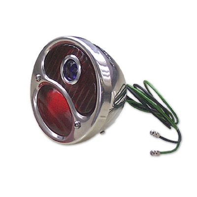 1928 31 ford model a tail light lens with blue dot for Garage ford lens