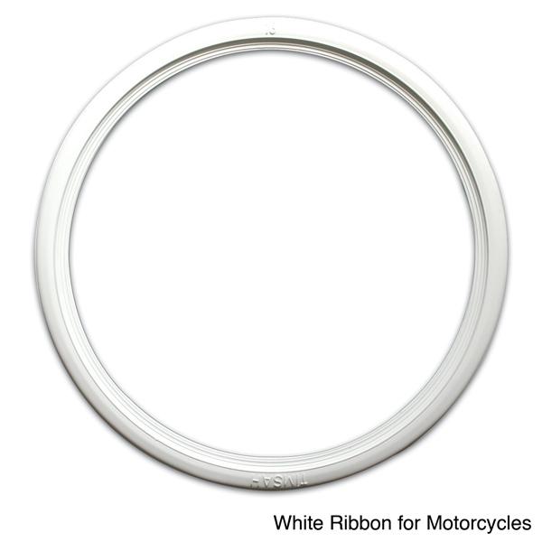 Port-O-Wall - White Motorcycle Ribbon