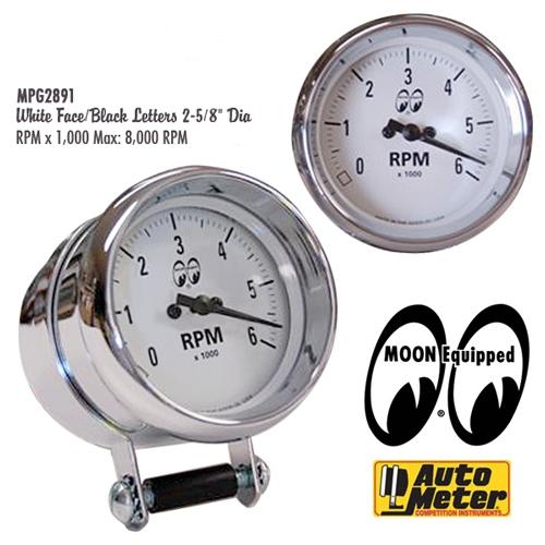 Moon 2 5  8 U0026quot  6000rpm Auto Meter Tachometer